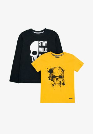 GEORGIA 2ER PACK - T-shirt print - black/mustard