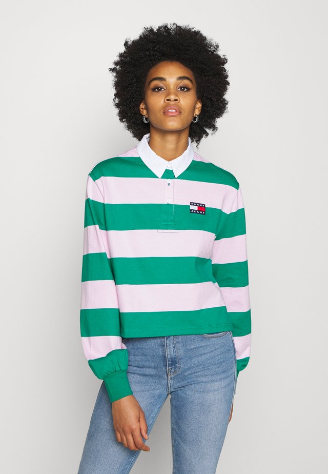 RUGBY  - T-shirt à manches longues - midwest green/romantic pink