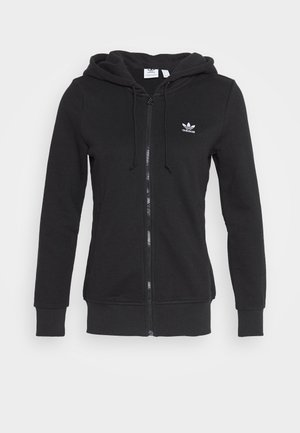 TRACK - veste en sweat zippée - black