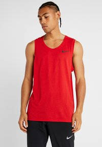 Nike Performance - TANK DRY - Sports shirt - university red/black - 0