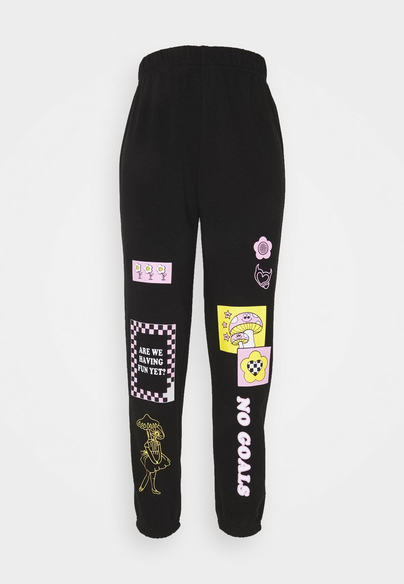 NEW girl ORDER - PATCH JOGGER - Pantalones deportivos - black