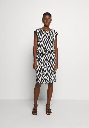 Jerseykleid - white/black