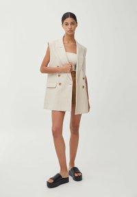 PULL&BEAR - Waistcoat - beige - 1