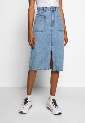 Pencil skirt - light-blue denim