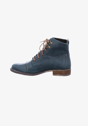 SIENNA  - Lace-up ankle boots - petrol