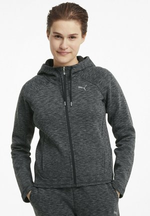 Zip-up hoodie - black-heather
