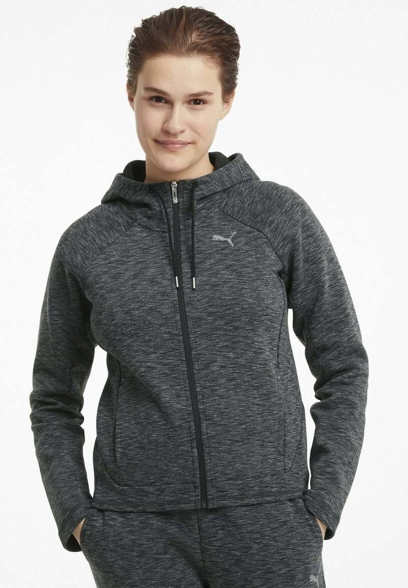 Puma - Zip-up hoodie - black-heather