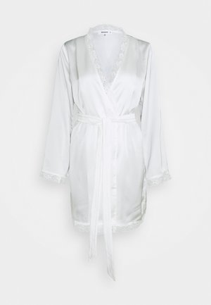 BRIDAL LACE INSERT SATIN ROBE - Accappatoio - white