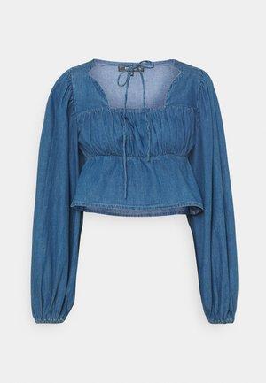 Button-down blouse - deep blue