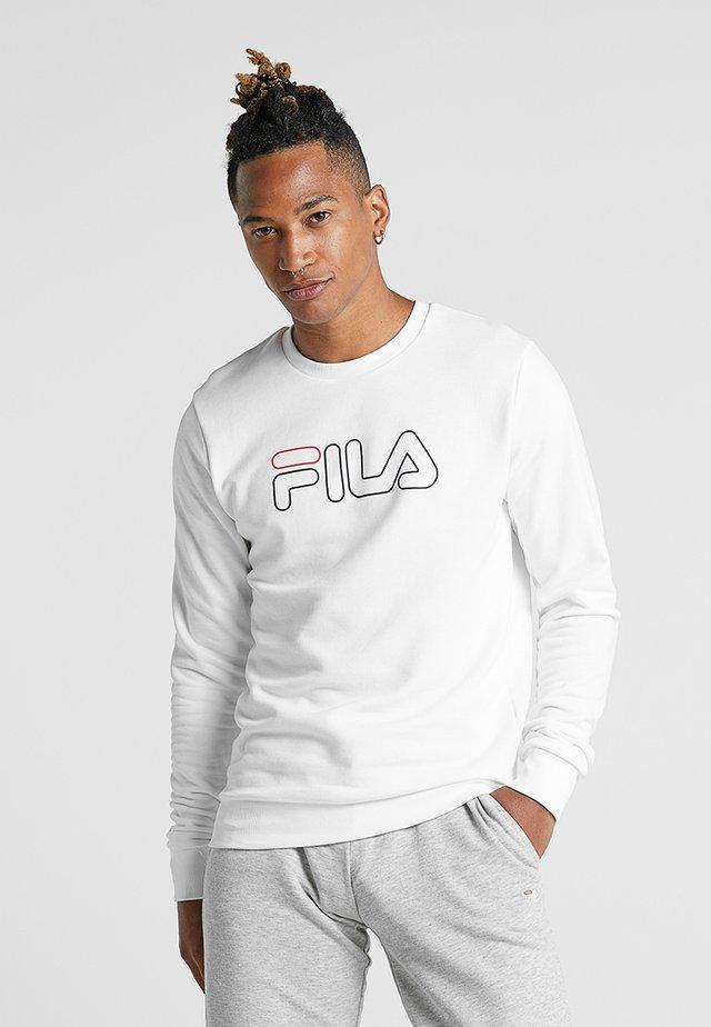 LIAM CREW - Sweatshirt - brightwhite