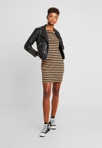 Vila - Day dress - black/dusty camel