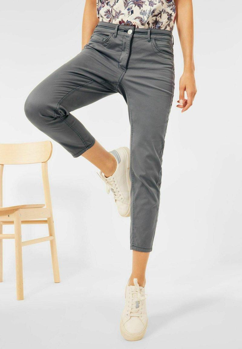 Cecil - SLIM FIT - Trousers - grau