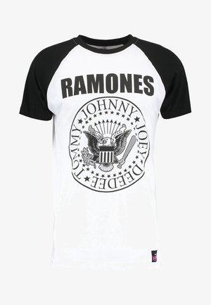 RAMONES - T-shirt con stampa - white/black