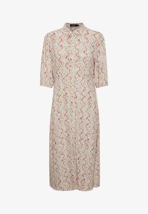 Shirt dress - whisper white splash print