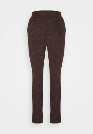 ONLALBA AMY PANT - Trousers - bitter chocolate