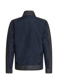 WE Fashion - MET BIKERDETAILS EN COATED DENIMLOOK - Overgangsjakker - dark blue - 1