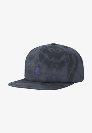 Cap - black tiedye/purple