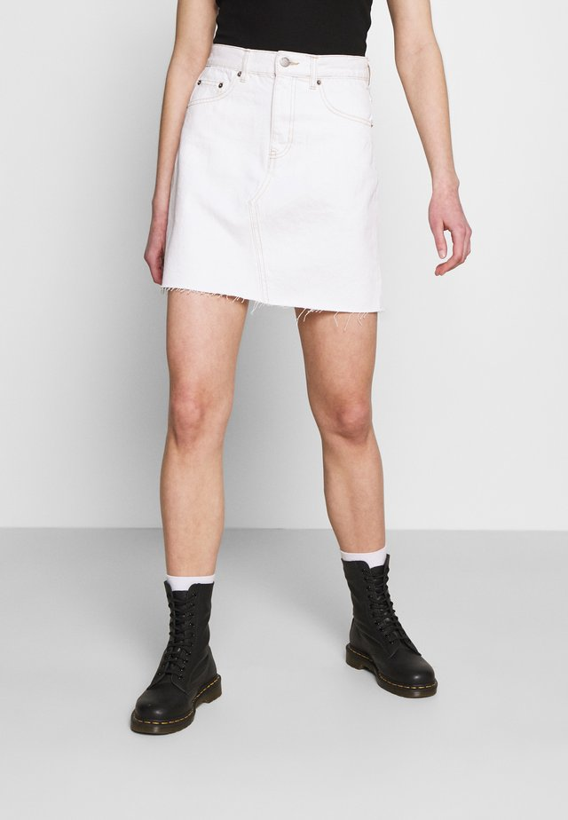 ECHO SKIRT - Mini skirt - light ecru