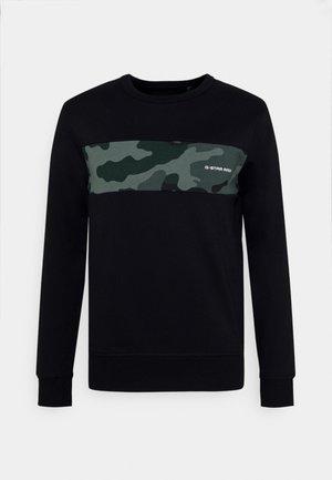 CAMO BLOCK R SW L/S - Sweatshirt - black