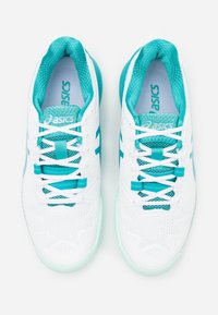 ASICS - GEL-RESOLUTION 8 - Scarpe da tennis per tutte le superfici - white/lagoon - 3