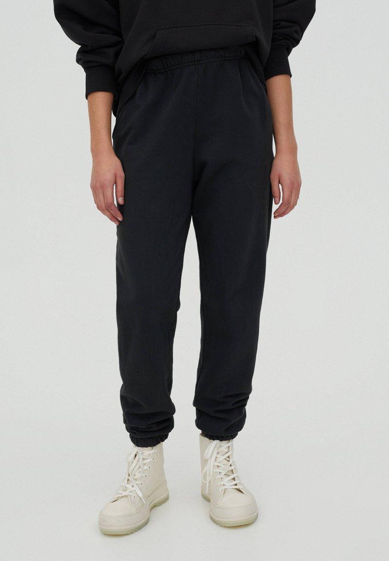 PULL&BEAR - Teplákové kalhoty - mottled dark grey