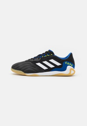 COPA SENSE.3 IN SALA - Indoor football boots - core black/footwear white/solar yellow