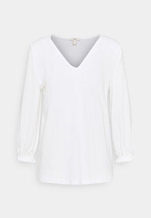 SMOCK TEE - Top sdlouhým rukávem - off white
