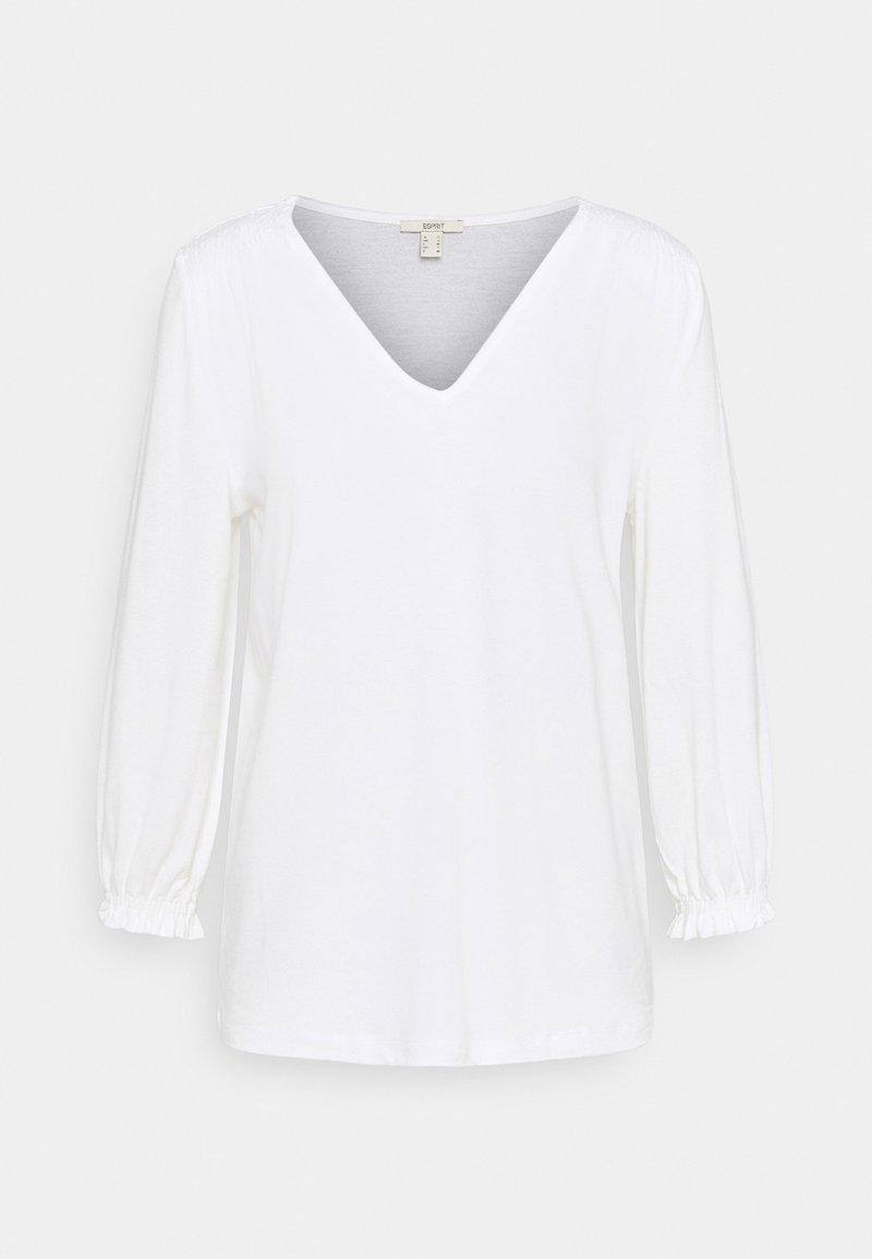 Esprit - SMOCK TEE - Top sdlouhým rukávem - off white