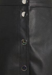 YAS - YASBINNA SKIRT - Leather skirt - black - 4