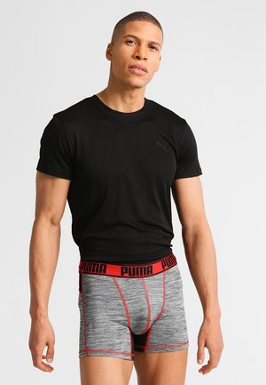 ACTIVE GRIZZLY MELANGE 2 PACK - Pants - black/red