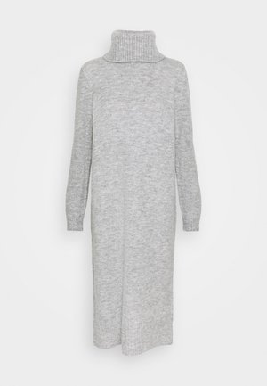 ONLBRANDIE ROLL NECK DRESS - Abito in maglia - light grey melange