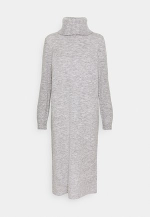 ONLBRANDIE ROLL NECK DRESS - Stickad klänning - light grey melange