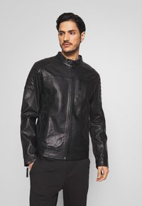 Esprit - BIKER - Veste en cuir - black - 0