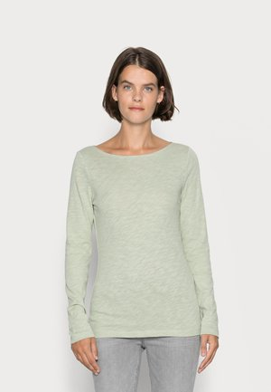 LONG SLEEVE BOAT NECK - Maglietta a manica lunga - washed spearmint