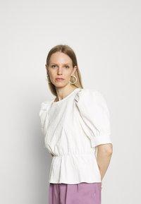 Marc O'Polo DENIM - BLOUSES SHORT SLEEVE - Blouse - scandinavian white - 0