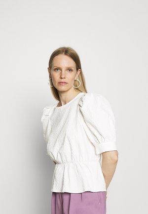 BLOUSES SHORT SLEEVE - Camicetta - scandinavian white