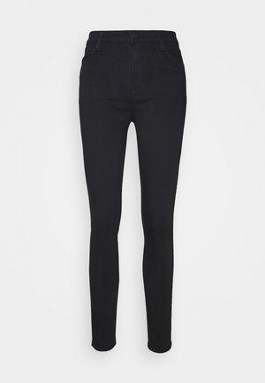 MARIA HIGH RISE - Skinny džíny - eco seriously black