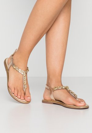 PSAGGIES  - T-bar sandals - gold