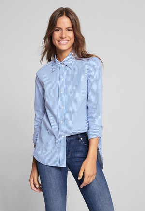 BENITA - Button-down blouse - blau gestreift