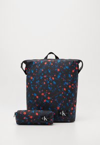 Calvin Klein Jeans - TECHNICAL FLAP BACKPACK SET - Batoh - black - 0