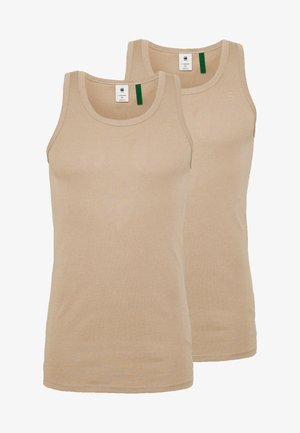 BASE TANKTOP 2 PACK - Top - khaki