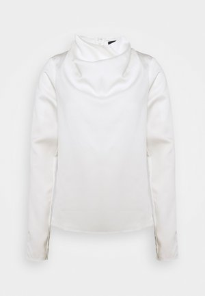 COWL NECK LONG SLEEVE TOP - Blusa - cream
