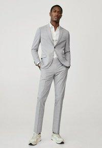 Mango - Suit trousers - gris moyen - 1
