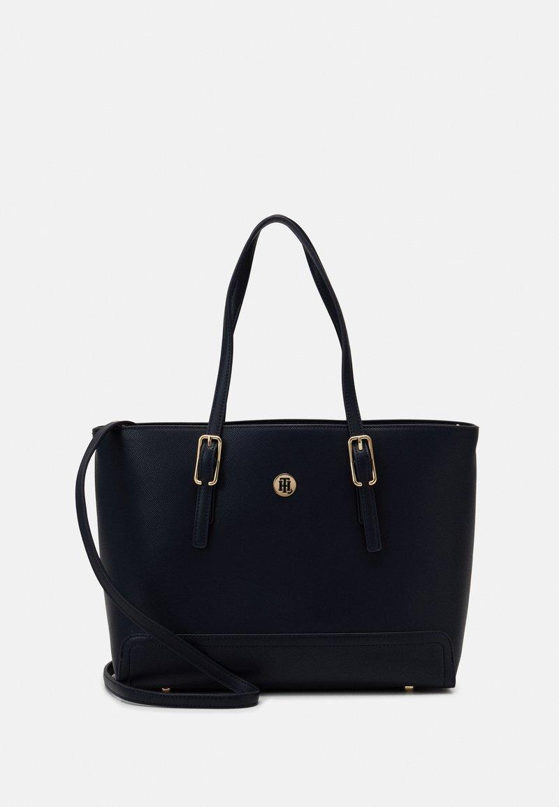Tommy Hilfiger - HONEY MED TOTE SET - Handbag - blue