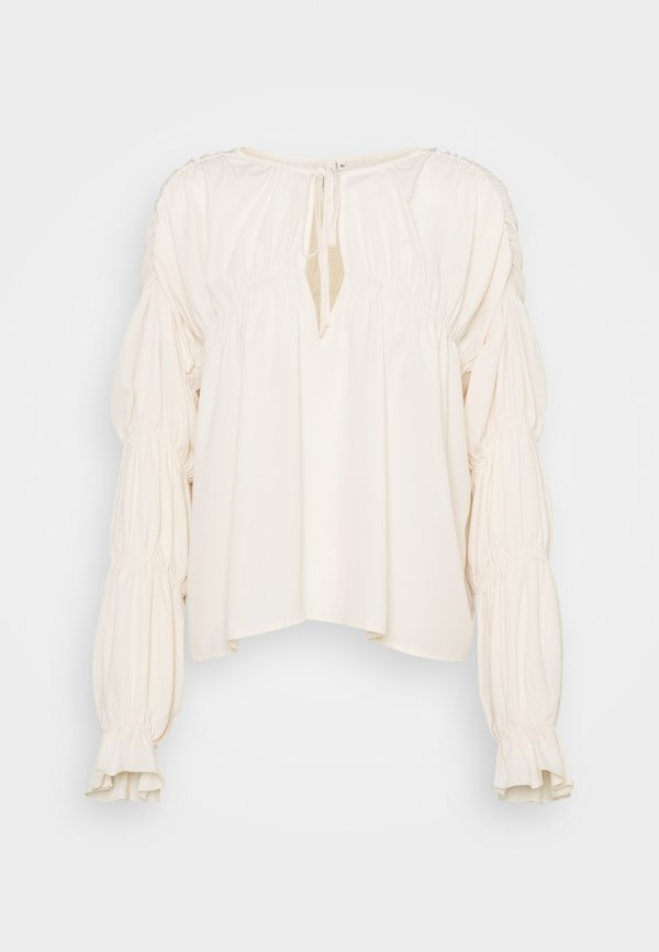 Nly by Nelly INTO YOU FLOWY BLOUSE - Bluzka - beige/beżowy LCNB