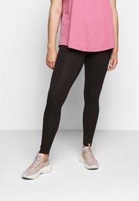 Zizzi - LONG - Leggings - Trousers - black - 0
