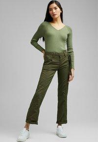 Esprit - PLAY - Trousers - khaki green - 1