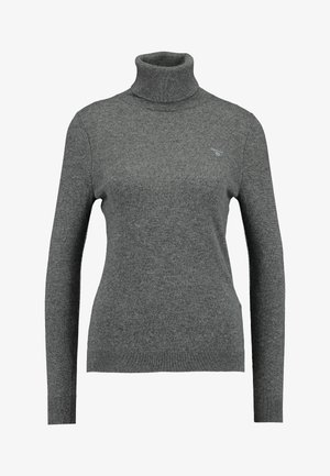 EXTRAFINE ROLLNECK - Pullover - charcoal