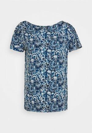 Print T-shirt - blue multi