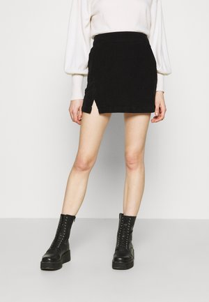 NOTCH SKIRT - Mini skirt - black